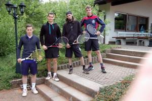 von links nach rechts: Timo Kropp, Denis Fritz, Marc Kikowatz und Fabian Greiner