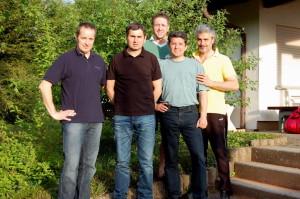 von links: Georg Rill, Werner Schmidt, Ortwin Bottesch, Daniel Lutsch und Simon Städter