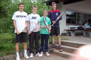 von links: Ferdinand Söll, Marc Weber, Lukas Rochau und Fabian Greiner